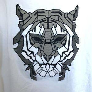 kamimura Shirts - KAMIMURA tokyo white t shirt with embroidery tiger